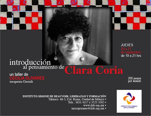 Taller sobre el pensamiento de Clara Coria en el Instituto Simone de Beauvoir de Mexico D.F.