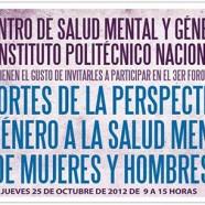 Foro «Aportes de la Perspectiva de Género a la Salud Mental de Mujeres y Hombres»